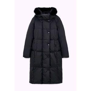 Zara Down Jacker with Faux Fur Hood